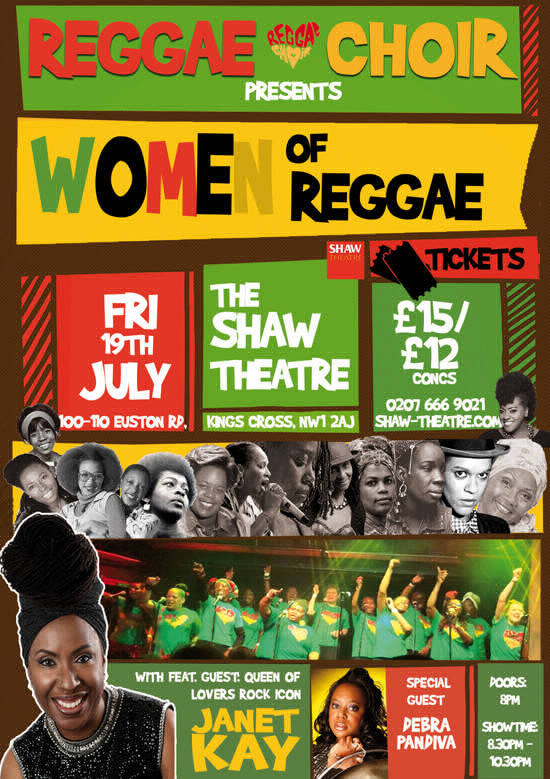 WOMEN IN REGGAE - SHAW THEATRE